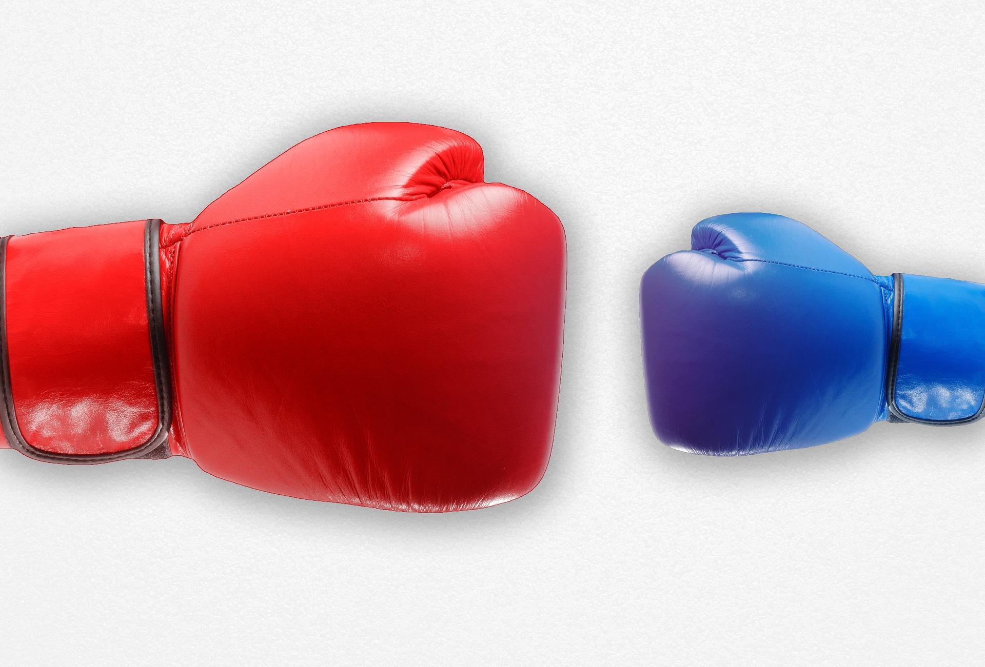 Boxhandschuhe: Frauen und Männer unterscheiden sich statistisch in der Körpergröße. Für Führungsaufgaben ist das irrelevant.